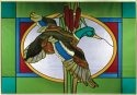 Artistic Gifts Art Glass V571 Mallard Duck Horizontal Panel