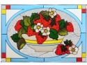 Silver Creek Art Glass V578 Fruit Panel