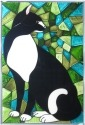 Artistic Gifts Art Glass V599 Cat Panel