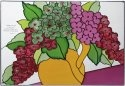 Silver Creek Art Glass VS244 Hydrangea Horizontal Panel