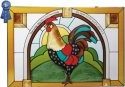 Artistic Gifts Art Glass VS519 Rooster Horizontal Panel