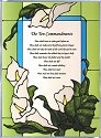 Artistic Gifts Art Glass W201 Ten Commandments Panel
