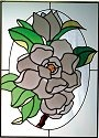Silver Creek Art Glass W202 Magnolia Vertical Panel