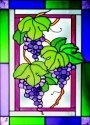 Silver Creek Art Glass W204 Grape Vertical Panel