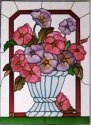 Silver Creek Art Glass W206 Pansy Vertical Panel