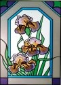 Silver Creek Art Glass W217 Iris Vertical Panel