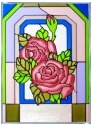 Silver Creek Art Glass W232 Rose Panel
