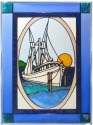 Silver Creek Art Glass W234 Fishing Boat Panel