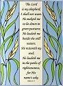Artistic Gifts Art Glass W250 Psalm 23 Panel