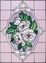 Silver Creek Art Glass W268 Magnolia Vertical Panel