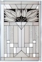 Silver Creek Art Glass W271 Mission Style White Panel
