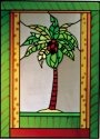 Artistic Gifts Art Glass W274 Palm Tree Vertical Panel