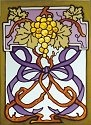 Silver Creek Art Glass W290 Grapes Panel