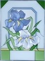 Silver Creek Art Glass W292 Iris Vertical Panel