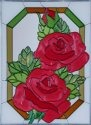 Silver Creek Art Glass W299 Rose Vertical Panel