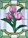 Silver Creek Art Glass W305 Tulip Vertical Panel