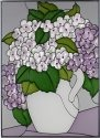 Silver Creek Art Glass W323 Hydrangea Vertical Panel