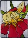 Silver Creek Art Glass W325 Iris Vertical Panel