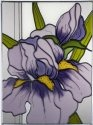 Silver Creek Art Glass W326 Iris Vertical Panel
