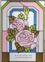Silver Creek Art Glass WS232 Rose Vertical Panel