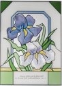 Silver Creek Art Glass WS292 Iris Vertical Panel