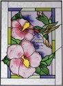 Artistic Gifts Art Glass WS309 Hummingbird Vertical Panel