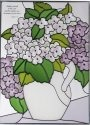 Silver Creek Art Glass WS323 Hydrangea Vertical Panel