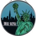 Silver Creek Art Glass X057 Lady Liberty Round Suncatcher