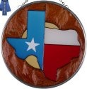 Silver Creek Art Glass X058 Texas Round Suncatcher