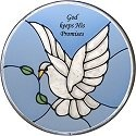 Silver Creek Art Glass X305 Peace Dove Round Suncatcher