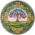 Silver Creek Art Glass X321 Tree of Life Round Suncatcher