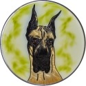 Artistic Gifts Art Glass Y133 Great Dane Cropped Jumbo Circle Suncatcher