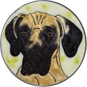 Artistic Gifts Art Glass Y134 Great Dane Natural Jumbo Circle Suncatcher