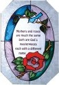 Artistic Gifts Art Glass Z106 Mothers & Roses Octagon