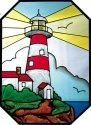 Silver Creek Art Glass Z126 Lighthouse Octagon