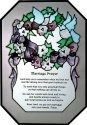 Silver Creek Art Glass Z134 Marriage Prayer Octagon