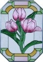 Silver Creek Art Glass Z229 Tulip Octagon
