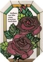 Artistic Gifts Art Glass Z282 Mothers & Roses Octagon