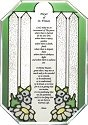 Silver Creek Art Glass Z297 Prayer of St Francis Octagon