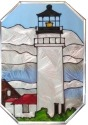 Silver Creek Art Glass Z308 MA Cape Cod Octagon