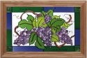 Silver Creek Art Glass IS017 Grape Cluster Horizontal Panel