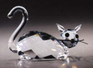 Estate Items 68615 Asfour Crystal Cat Laying Down Large