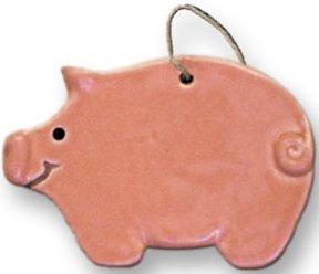 August Ceramics 2002 Pig Ornament