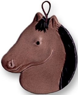 August Ceramics 2003MD Tan with Black Mane Ornament