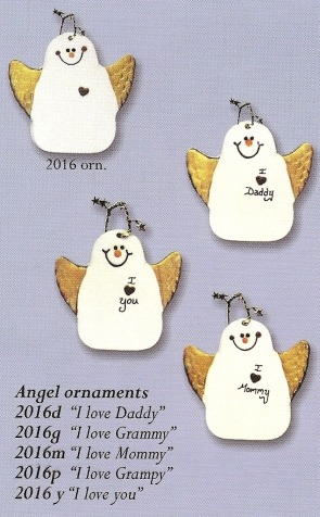 August Ceramics 2016P Verse - Click Photo Ornament