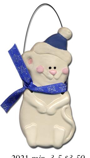 August Ceramics 2021 Mouse Ornament