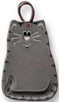 August Ceramics 2027G Tiger Gray Ornament