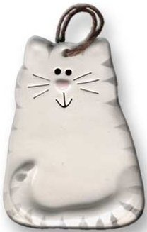 August Ceramics 2027WG Tiger Gray White Ornament