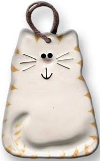 August Ceramics 2027WY Tiger Yellowith White Ornament