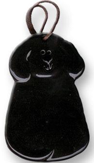 August Ceramics 2047B Black Ornament